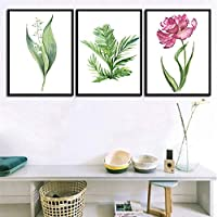 北欧キャンバス絵画プリント画像ポスター花壁アートリビングルームの寝室の家の装飾-40×60センチ×3ピースフレームなし