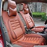 (ファーストクラス)FirstClass フロント リア カーシートカバー フルセット PUレザー シートクッション ワインレッド汎用 IS200 IS300 A32 B4 960 LS430 8pcs