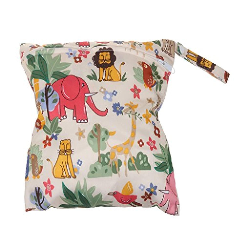SONONIA 防水 再利用可能 赤ちゃん ジッパー おむつ袋 ウェット ドライ 水泳 トラベル トート バッグ 収納バッグ 全11色 選べる - #12