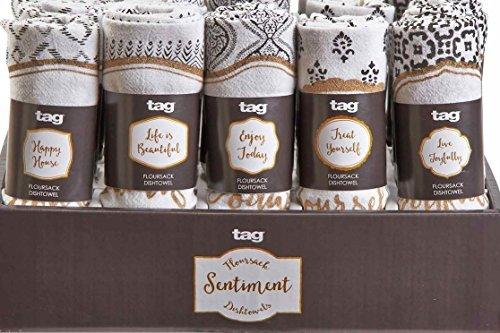 タグhenna共鳴小麦粉袋dishtowel set of 5 dish clothsバンドル samurai