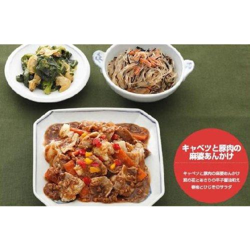 3389【健康三彩】キャベツと豚肉の麻婆あんかけ