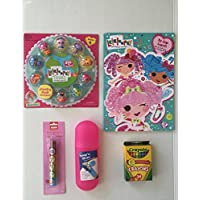 Lalaloopsyバンドル: Tinies Deluxe pack- ( 9 Tinies + )カラーリング&アクティビティブックwith 80 Pgsのゲーム&パズル、crayon-24 CT、Snap ' N Store Carrying Case forクレヨン、Creatology動物ローラースタンプ