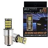 Fastcar S25シングル球 1156 P21W BA15S Canbus 球切れ警告キャンセラー内蔵付き LED ホワイト DC12V-24V 爆光 無極性 45連 白 2個セット6500K