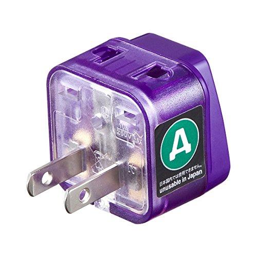 サンワサプライ 海外電源変換アダプタ エレプラグW-A(アメリカ) TR-AD11 1個