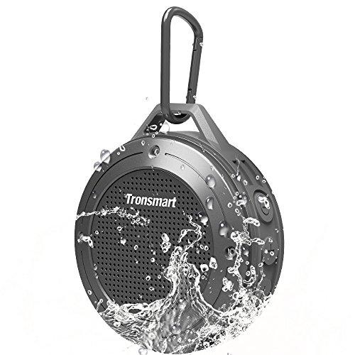 Tronsmart Bluetooth4.2 スピーカー IP67 防水 アウトドア 5W低音強化 長時間再生 内蔵マイクあり ワイヤレス スピーカー iOS/Android対応 (ダークグレー)