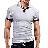【 スマイズ スマイル 】 Smaids×Smile メンズ 半袖 襟 付き スポーツ ポロシャツ トレーニング (ホワイト L)