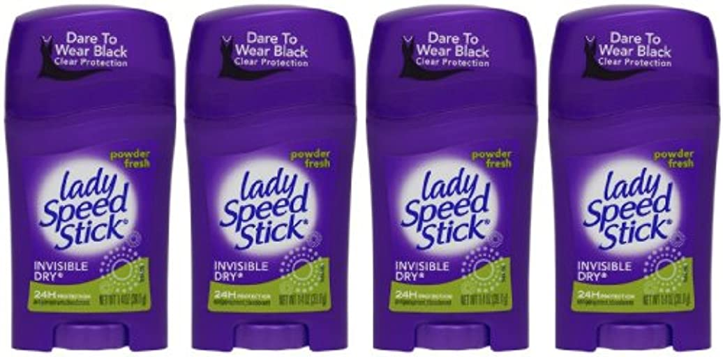 マングル侵入ジュラシックパークLady Speed Stick Invisible Dry Antiperspirant & Deodorant, Powder Fresh - 1.4 oz - 4 pk by Lady Speed Stick
