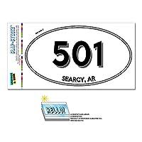501 - サーシー, WITH - アーカンソー州 - 楕円形市外局番ステッカー