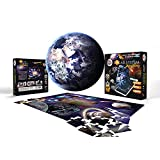 AR Solar system planet 3D Jigsaw puzzle (Augmented Reality with free mobile app) - 48 pieces set for kids and adults - Kid learning educational puzzle, DIY Toy, Science kit