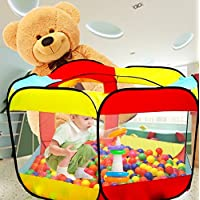 Wershow Ball Pit Play Tent for Kids – 6-sided Playhouse for Children – Fill withプラスチックボールボールは含まれませんまたはとして使用an屋内または屋外テント