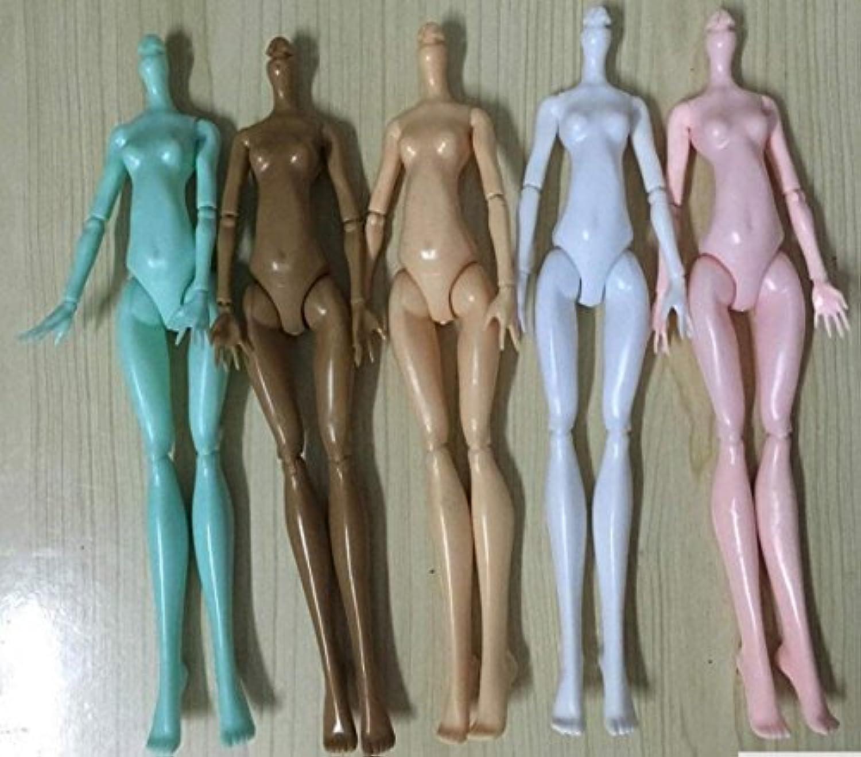 CHENGYIDA 5色 プラスチック製 ファッション 多関節ヌードドールボディ モンスターハイドール人形用ン モンスターハイドールヌードボディ プラスチック製 人形ボデイ