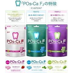 歯科専用 ポスカ・エフ 100g×6袋[ペパーミント2袋・マスカット2袋・ストロベリー2袋のアソート] 水溶性カルシウム[POs-Ca )+緑茶エキス配合ガム