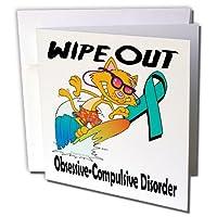ドゥーニデザインズ意識リボンデザイン–Wipe Out obsessive-compulsive Disorder OCD意識リボン原因デザイン–グリーティングカード Individual Greeting Card