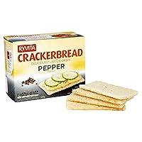 Ryvita黒胡椒Crackerbreadの125グラム (x 2) - Ryvita Black Pepper Crackerbread 125g (Pack of 2) [並行輸入品]