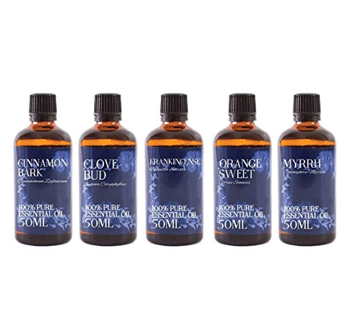 請願者制約成分Mystic Moments   Gift Starter Pack of 5 x 50ml Christmas Essential Oils