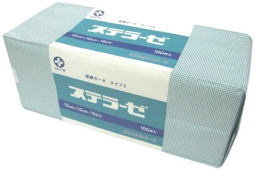 白十字 ステラーゼ(未滅菌)10×10 15389 1セット(300枚:100枚×3袋) 07-3565-05