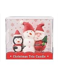 kameyama candle(カメヤマキャンドル) クリスマストリオキャンドル 「 スノーマン 」(A3220010)