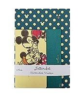 Hallmark ホールマーク Disney(ディズニー) レターセット ミッキー ドット(青) 6セット EES-650-315