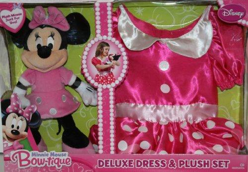 ディズニープリンセス ミニーマウス ブティック おもちゃドレスSサイズ&ぬいぐるみセット Minnie Mouse Bowtique - Deluxe Dress and Plush Set 並行輸入品 -