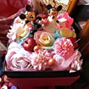 結婚祝い ディズニー フラワーギフト レインボーローズ プリザーブドフラワー ウェディングB ミッキー ミニー プリザーブドフラワーフレンチボックス りんご 入り 結婚祝いプレゼント 記念日の贈り物におすすめのフラワーギフト プレゼント先へのお届け 配送日指定も可能です