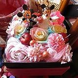 結婚祝い ディズニー フラワーギフト レインボーローズ プリザーブドフラワー ウェディングB  ミッキー ミニー プリザーブドフ..