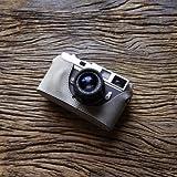 cam-in (カムイン) カメラケース ライカ Leica M6 , M7 , MP , M2 , M3 , M4用 イタリアンレザー (CA033シリーズ, シルバーグレー)