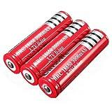 UltraFire 18650 3000mAh 3.7V リチウムイオン充電池 【保護回路付き充電池(プロテクト付き)】 (3本セット)
