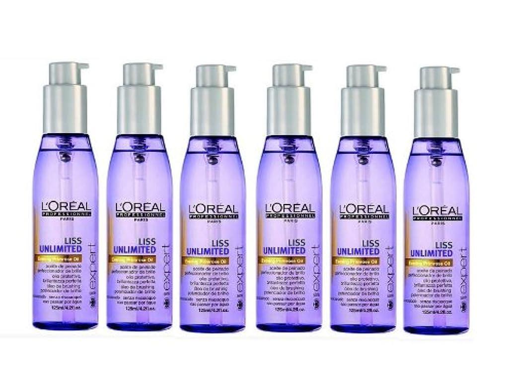 専ら軌道素晴らしきLoreal Liss Unlimited entspannendes Öl 6 x 125 ml Serie Expert Evening Primrose Oil Nachtkerzenöl