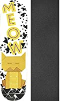 "Meow Skateboards Origami Catスケートボードデッキ – 8 "" x 31.75 "" with Jessup Griptape – 2アイテムのバンドル"
