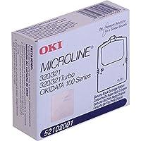 OKI Microline 100シリーズ/ 320/ 320t / 321/ 321tブラックファブリックリボン3M文字