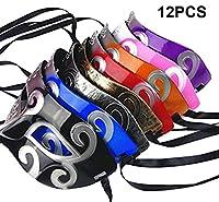 fashionclubs 12pcs Half Faceレトロローマグラディエーターハロウィンパーティープラスチックマスク仮面舞踏会マスク