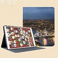 IPad Mini ケース クリア IPad Mini2 ケース レザー PU IPad Mini3 ケース 軽量 スタンド機能 傷つけ防止 オートスリープ ハード二つ折 ロンドンイギリス都市景観夜景とタワーブリッジランドマーク都市の夕日