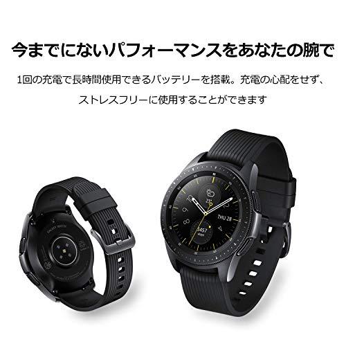 『Galaxy Watch 42mm ミッドナイトブラック【Galaxy純正 国内正規品】 Samsung スマートウォッチ iOS/Android対応 SM-R81010118JP』の7枚目の画像