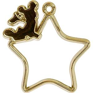 エルベール レジンフレーム ディズニー フレームチャーム ミッキー 星 ゴールド LICD-054G