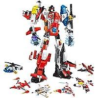 Chiak 6イン1 ミニDIY変形ロボット教育ビルディングブロック おもちゃ QCVM033281_2#
