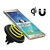 磁気車の充電器マウント、QI対応デバイスのためのNeotrixワイヤレスチー標準モバイル携帯電話エアーベントマグネットカーマウントホルダークレードルおよび充電器