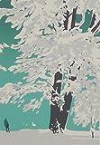 ◆本間武男◆【雪の札幌】◆シルクスクリーン版画◆額付き