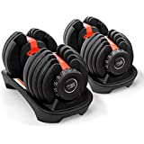 Pair Powertrain Adjustable Dumbbell Set - 48kg total weight