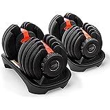 Pair Powertrain Adjustable Dumbbell Set - 48kg Total Weight