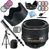 Nikon af-s Nikkor 58mm F / 1.4gレンズと72mmフィルタセットプラスアクセサリーバンドル