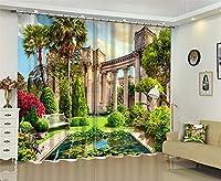 ヨーロッパ式の柔らかい景色3D 100%のポリエステル停電の家のホテルのCurtianの居間のための窓カーテン,E,W300*H270cm