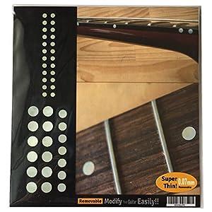Jockomo カスタムドット SET (WT) ポジションマーク・サイドマーカー ギターに貼る インレイステッカー