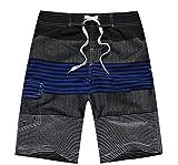 APTRO(アプトロ)メンズ サーフパンツ ショーツ メッシュインナーサポータ付き 水着 海水パンツ 海パン オシャレ ゴムウエスト サーフトランクス #1505ダクブルー S