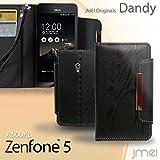 Zenfone5 A500KL ASUS 対応 レザー手帳ケース Dandy レッド 柄(ゼンフォン ファイブ a500kl エイスース)スマホ カバー スマホケース 携帯カバー microusb ケーブル 充電器 対応 ケース