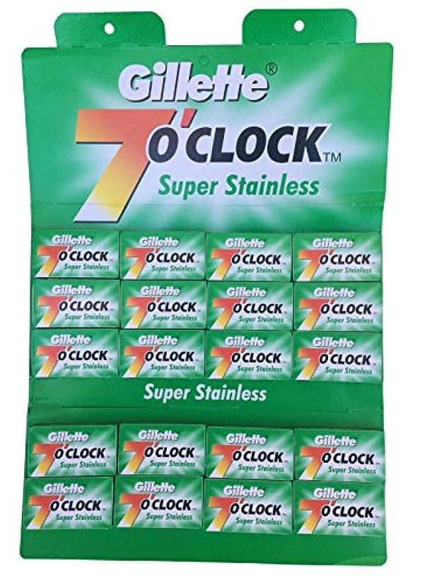 苦情文句契約した地図Gillette 7 0'Clock Super Stainless 両刃替刃 100枚入り(5枚入り20 個セット)【並行輸入品】