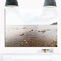 DesignArt mt8968–28–12Seashore写真メタル壁アート–28x 12、ブルー/ブラウン、28x 12