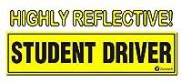 Student Driver(運転練習中) マグネット 反射 マグネット式 車両 カーサイン