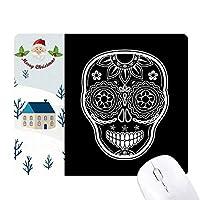 死の黒い白いメキシコ日 サンタクロース家屋ゴムのマウスパッド