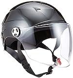 リード工業 バイクヘルメット ハーフ シールド付 ブラック LLサイズ 61~62cm未満 RE41 ¥ 3,790
