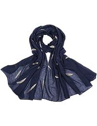 (エンジェルムーン) AngelMoon ストール レディース 春 羽根 刺繍 夏 秋 UVカット エアコン対策 紫外線 冷え対策